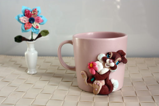 EffeGi Art | Fimo e Porcellana - Tazza Mug Milly Coniglietta 01