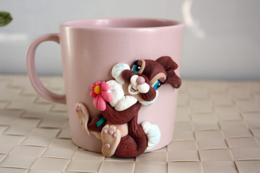 EffeGi Art | Fimo e Porcellana - Tazza Mug Milly Coniglietta 02